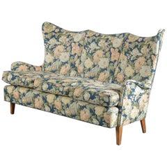 Danish Midcentury Highback or Wingback Sofa, circa 1950s