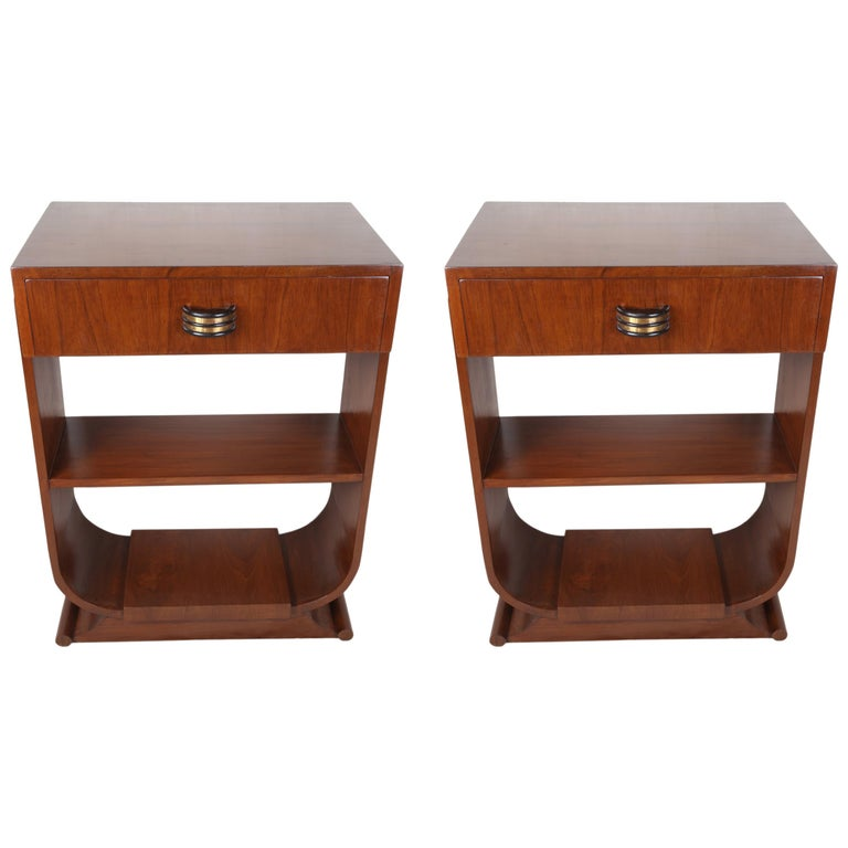 Pair of Mid-Century Modern Teak Side Tables For Sale