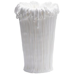 Established & Sons Frillo Vase with Handcrafted White Piping by Alessandro Ciffo