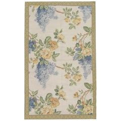 Handmade Rug, Aubusson Carpet, Floral Rug French Style Needlepoint Rugs