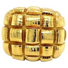 David Webb Textured 18 Karat Dome Ring