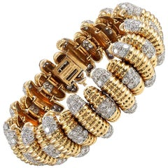 David Webb Textured Diamond Bracelet