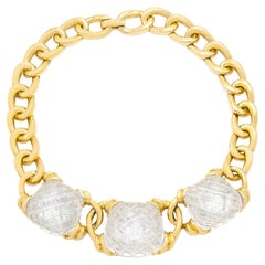 David Webb Three Crystal Necklace