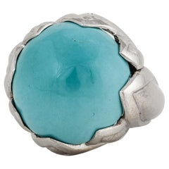 David Webb Turquoise Ring