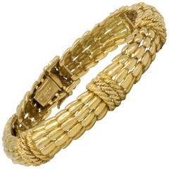 David Webb Vintage 18 Karat Gold Bracelet