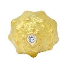 David Webb Vintage Diamond 18 Karat Gold Conch Shell Ring