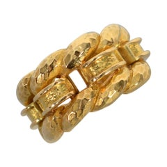David Webb Woven Gold Band Ring