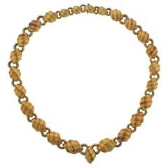 David Webb Yellow Gold Necklace