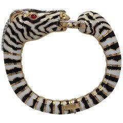 David Webb Zebra Bracelet 18 Karat Gold