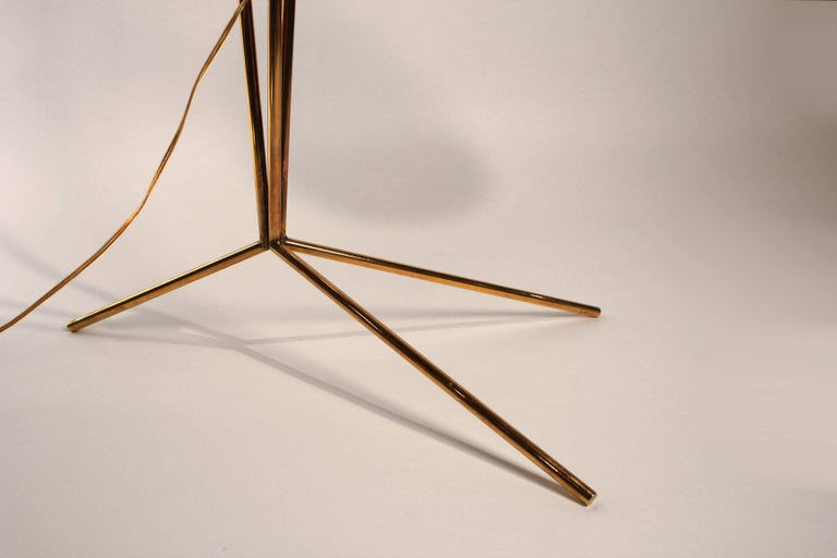 American David Weeks Model '303' Articulated Brass Floor Lamp For Sale