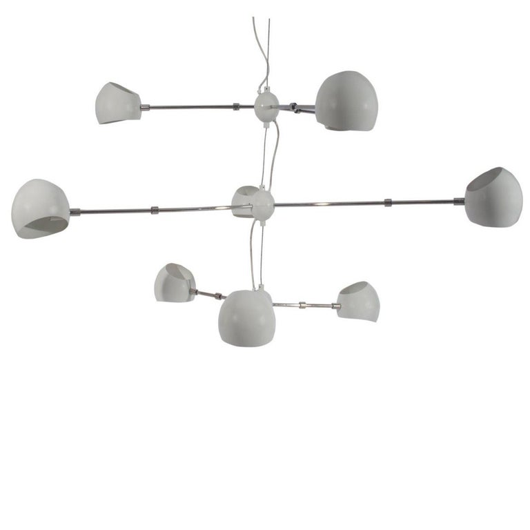 David Weeks Tri Boi Three-Arm Light Fixture For Sale