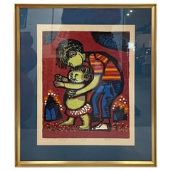 David Weidman Signed and Numbered ED of 250 Silkscreen Walking