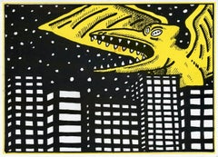 David Wojnarowicz illustrated announcement New York 1983