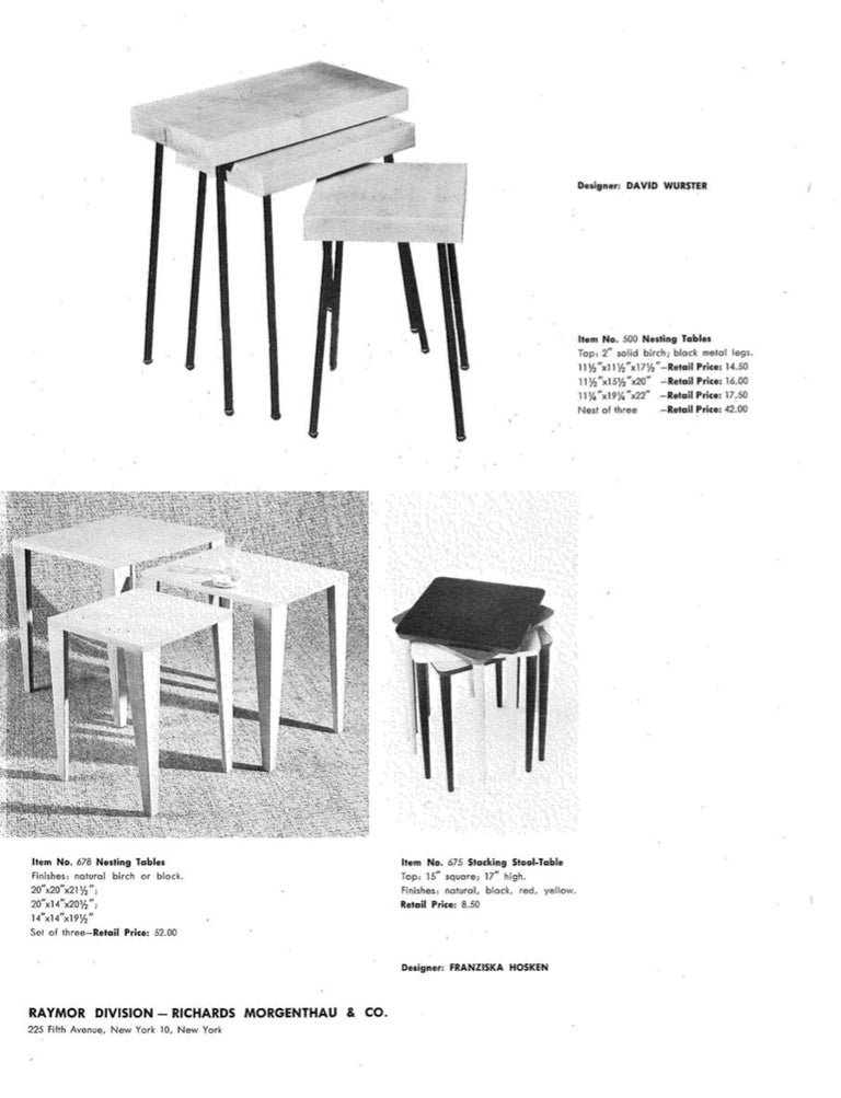 David Wurster Nest of Tables for Raymor For Sale 5