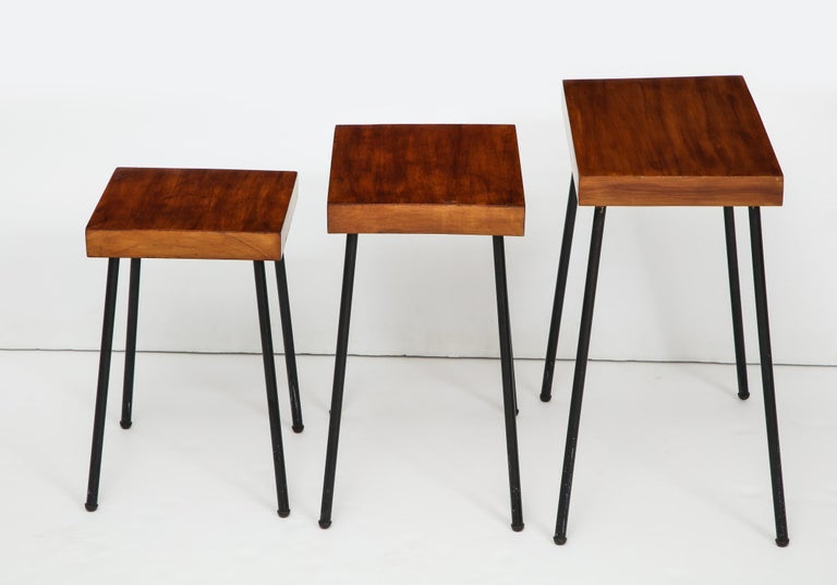 Mid-Century Modern David Wurster Nest of Tables for Raymor For Sale