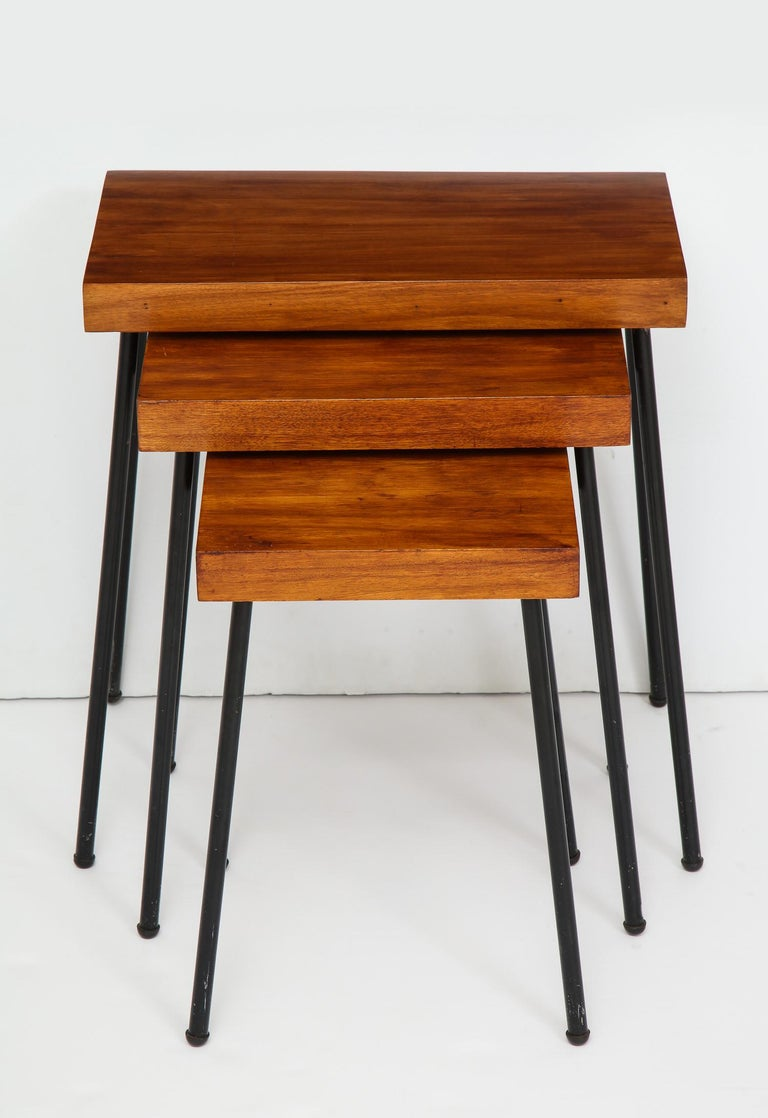 David Wurster Nest of Tables for Raymor In Good Condition For Sale In New York, NY