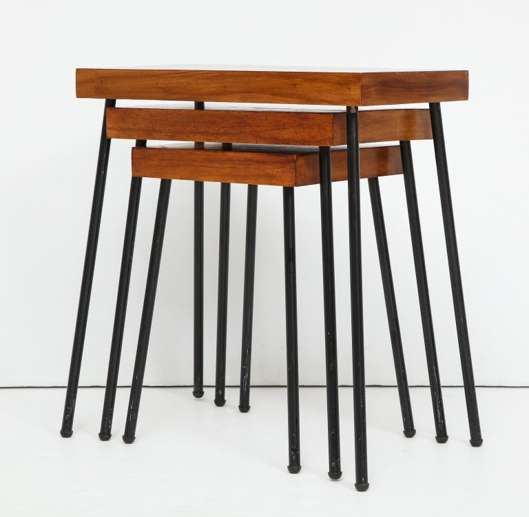 Mid-20th Century David Wurster Nest of Tables for Raymor For Sale