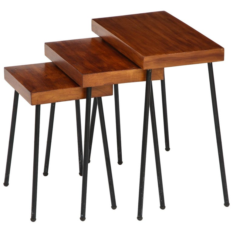 David Wurster Nest of Tables for Raymor For Sale