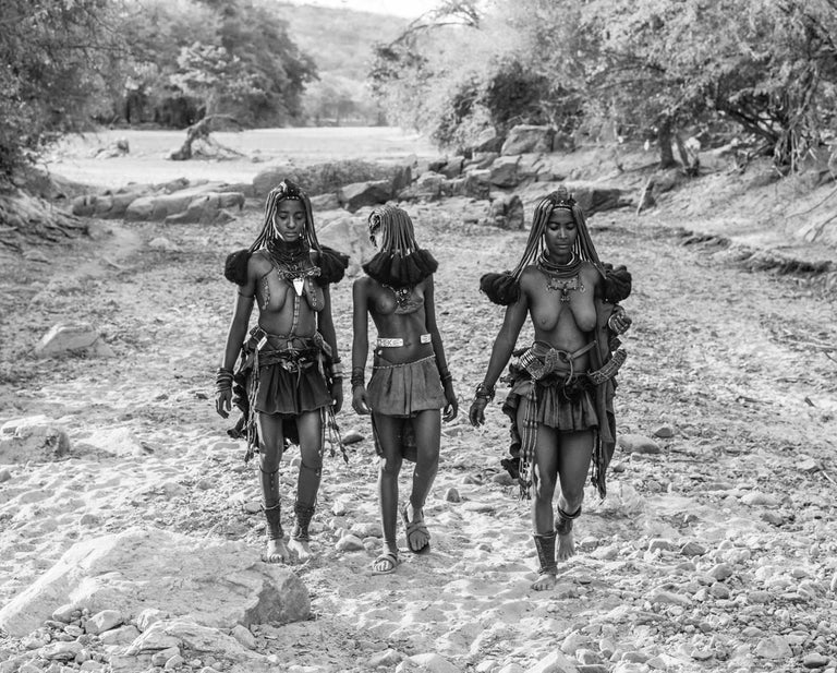 David Yarrow Black and White Photograph - Himba Girls
