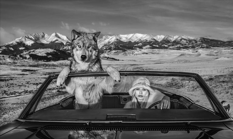 David Yarrow Black and White Photograph - Once Upon a Time in the West