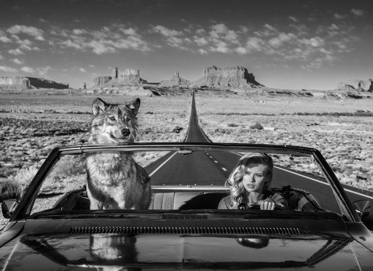 David Yarrow Black and White Photograph - Road Trip