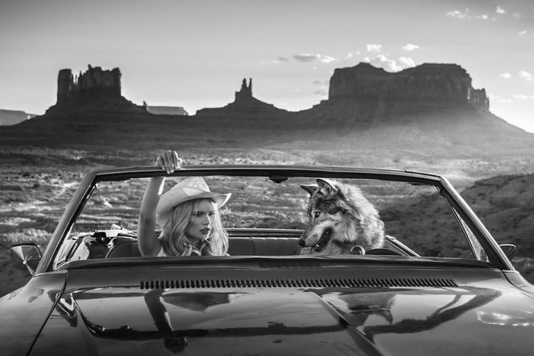 David Yarrow Black and White Photograph - The Break Up