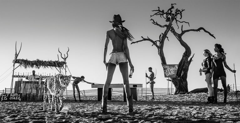 David Yarrow Black and White Photograph - THE GOOD, THE BAD AND THE ASS