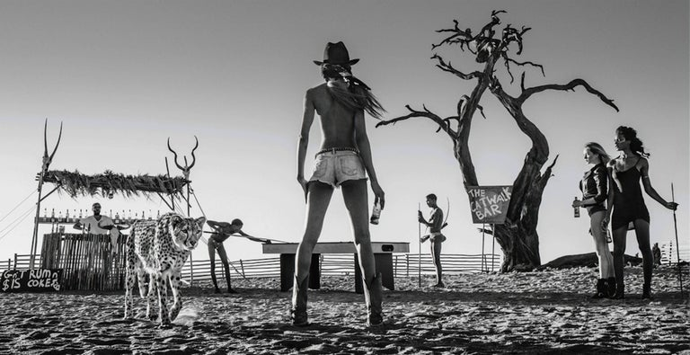 David Yarrow Black and White Photograph - The Good, The Bad & The Ass