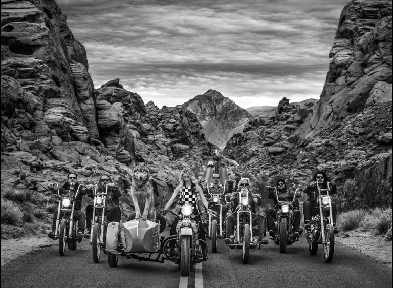 David Yarrow Black and White Photograph - The Leader of the Pack