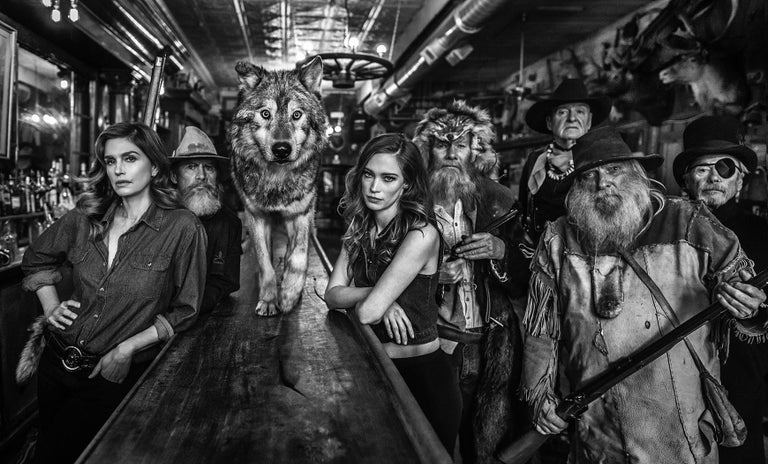 David Yarrow Black and White Photograph - The Unusual Suspects