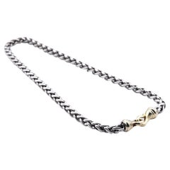 David Yurman 14 Karat Yellow Gold and Sterling Silver Cable Chain