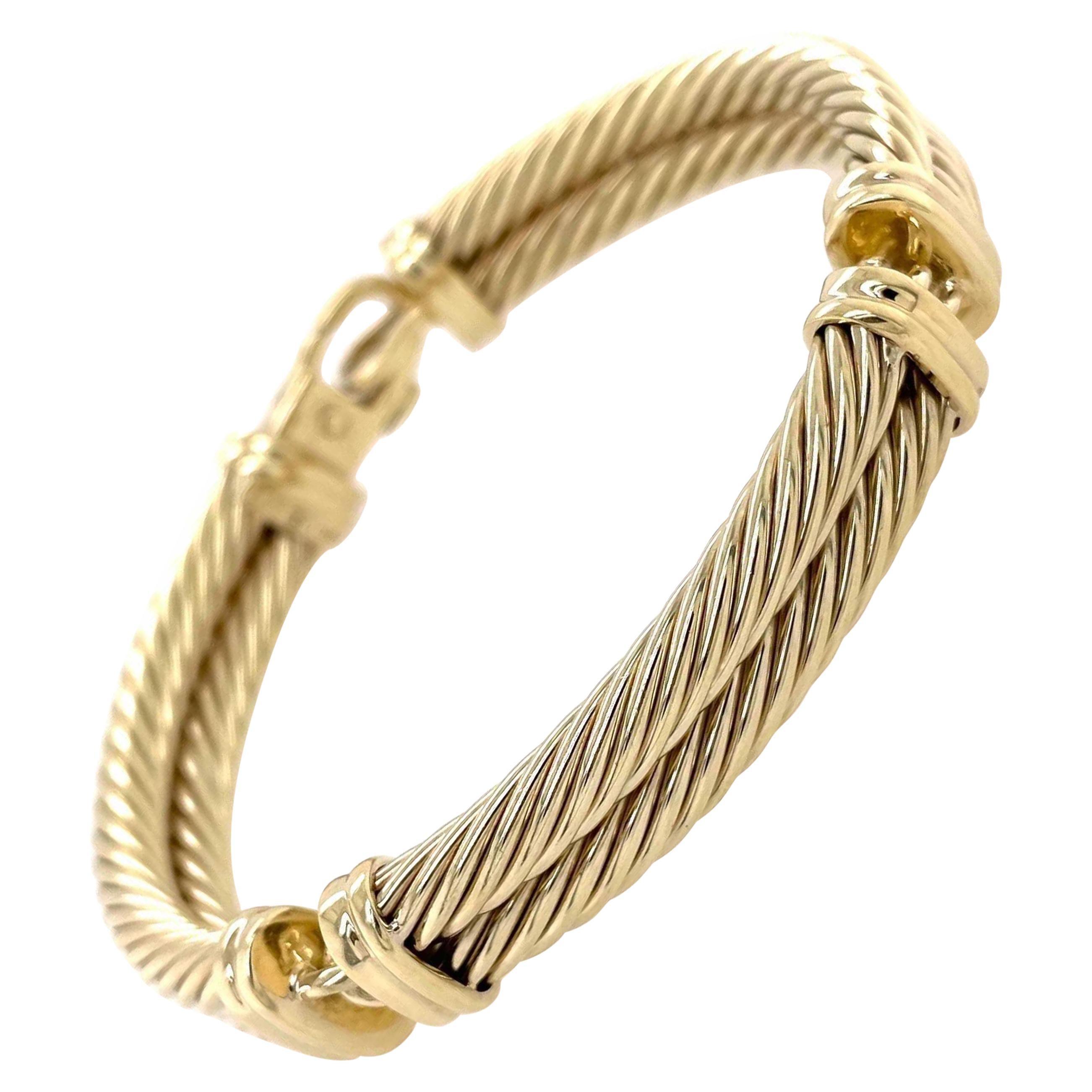 David Yurman 14 Karat Yellow Gold Bracelet