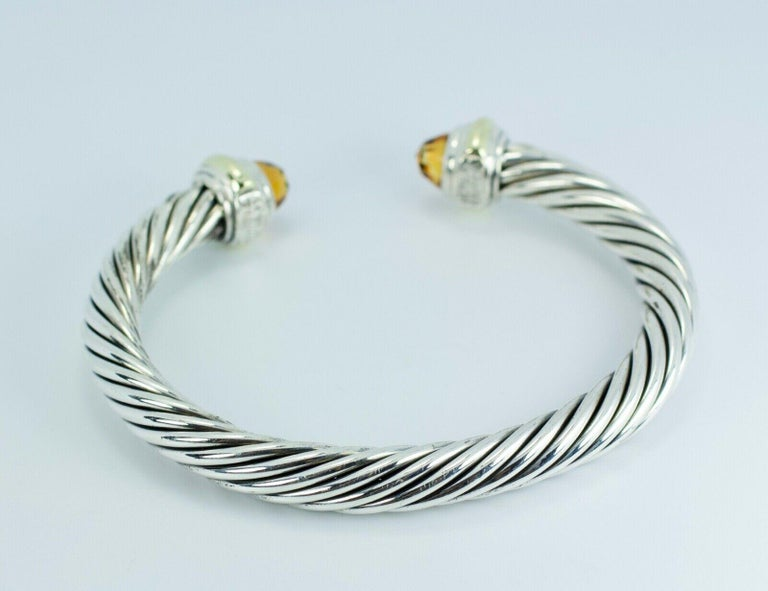 .925 SS And 14k Yellow Gold David Yurman Classic Citrine Bracelet   41.2 Grams   This exact bangle is still on the Yurman website. It is available for $1450. If you have any questions or concerns or would like a custom order please message me and I