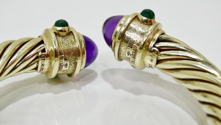David Yurman 14k Gold & Sterling Silver Renaissance Bracelet   In Excellent Condition For Sale In Scottsdale, AZ