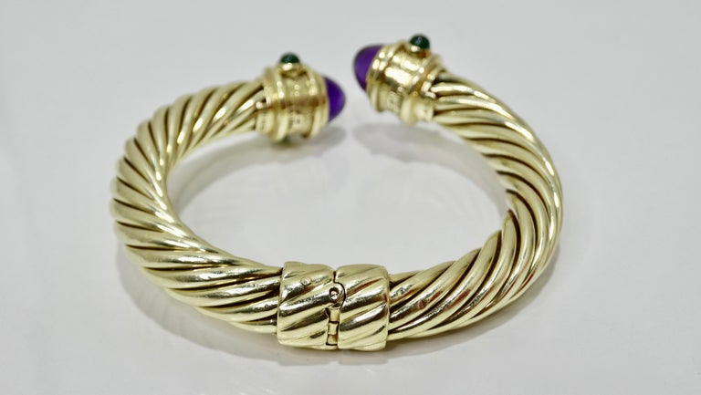 Women's or Men's David Yurman 14k Gold & Sterling Silver Renaissance Bracelet   For Sale