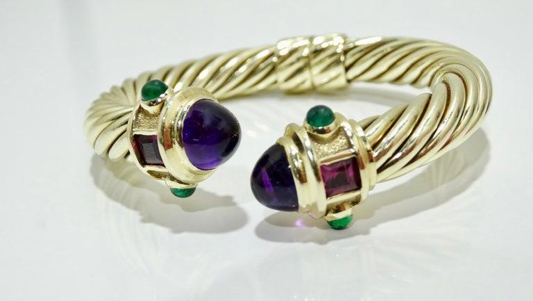 David Yurman 14k Gold & Sterling Silver Renaissance Bracelet   For Sale 1