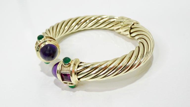 David Yurman 14k Gold & Sterling Silver Renaissance Bracelet   For Sale 2