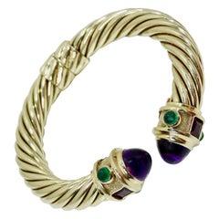 David Yurman 14k Gold & Sterling Silver Renaissance Bracelet