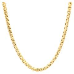 David Yurman 18 Karat Yellow Gold Box Chain