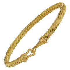 David Yurman 18 Karat Yellow Gold Buckle Bracelet