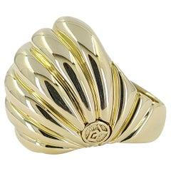 David Yurman 18 Karat Yellow Gold Cable Dome Ring