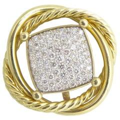 David Yurman 18 Karat Gold Infinity Diamond Pendant