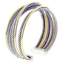 David Yurman 7 Row Crossover Wide Cuff Bracelet