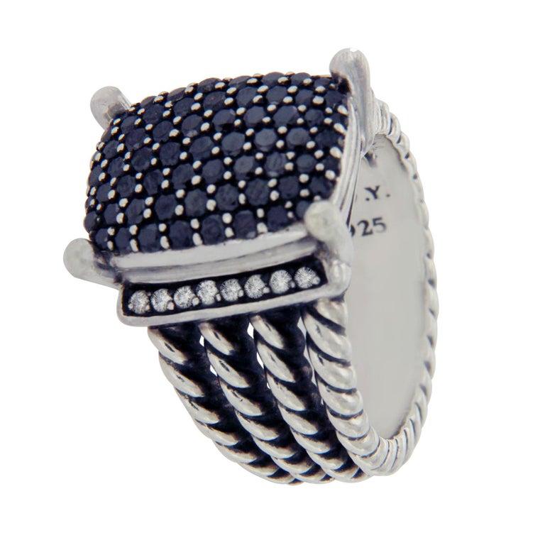 David Yurman 925 Silver Black And White Diamond Wheaton
