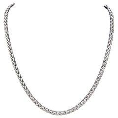 David Yurman 925 Sterling Silver Wheat Chain Rope Necklace 37.5 Gram