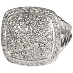 David Yurman Albion Diamond Ring in Sterling Silver 0.99 Carat