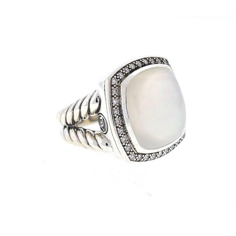 84858d36b731a David Yurman Albion Moonstone and Diamonds Ring