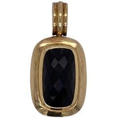 David Yurman Albion Onyx 18 Karat Yellow Gold Sterling Silver Pendant