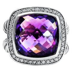 David Yurman Albion Ring Whit Amethyst and Diamonds