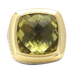 David Yurman Albion Silver, Gold, and Peridot Ring